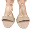 thumbnail 7 - Womens Ladies Beige Faux Suede High Heel T-Bar Party Sandals Shoes Size UK 7 New