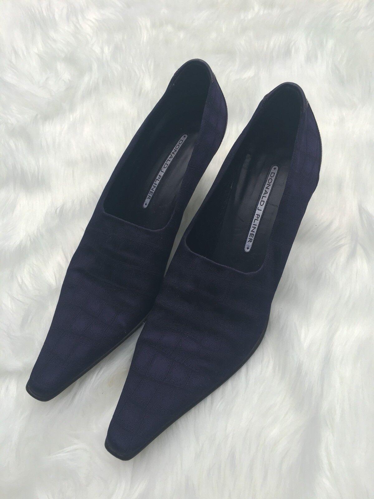 Donald J Pliner Lacia S1 púrpura Moc Moc Moc Cocodrilo Cocodrilo Zapatos De Tela Impresión 8.5N AA  calidad oficial