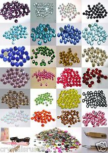 2-5mm-IRON-ON-RHINESTONE-CRYSTAL-BEAD-gems-CARD-MAKING-WEDDING-BLING-tshirt-lot