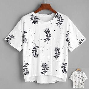 603ed4484c La imagen se está cargando Mujer-Blusa-Estampado-blusa-camisa-manga-corta -Verano-