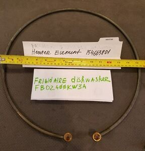 Frigidaire dishwasher heating element part # (154663801)