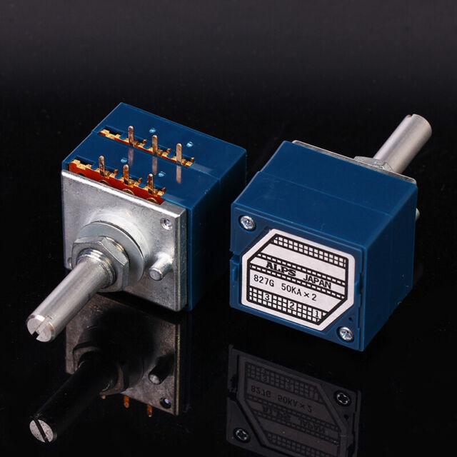 New ORIGINAL ALPS RK27 27 Type Dual 50K Potentiometer Round Handle