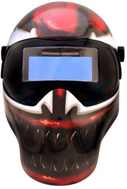 SAVE PHACE Welding Helmet Carnage Auto-Darkening Lightweight w/ 10 Passive Lens
