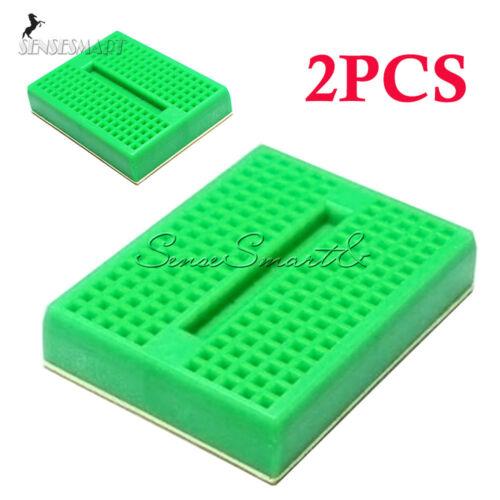 2Pcs Mini 170 Tie-points Solderless Prototype Breadboard For Arduino Shield SE