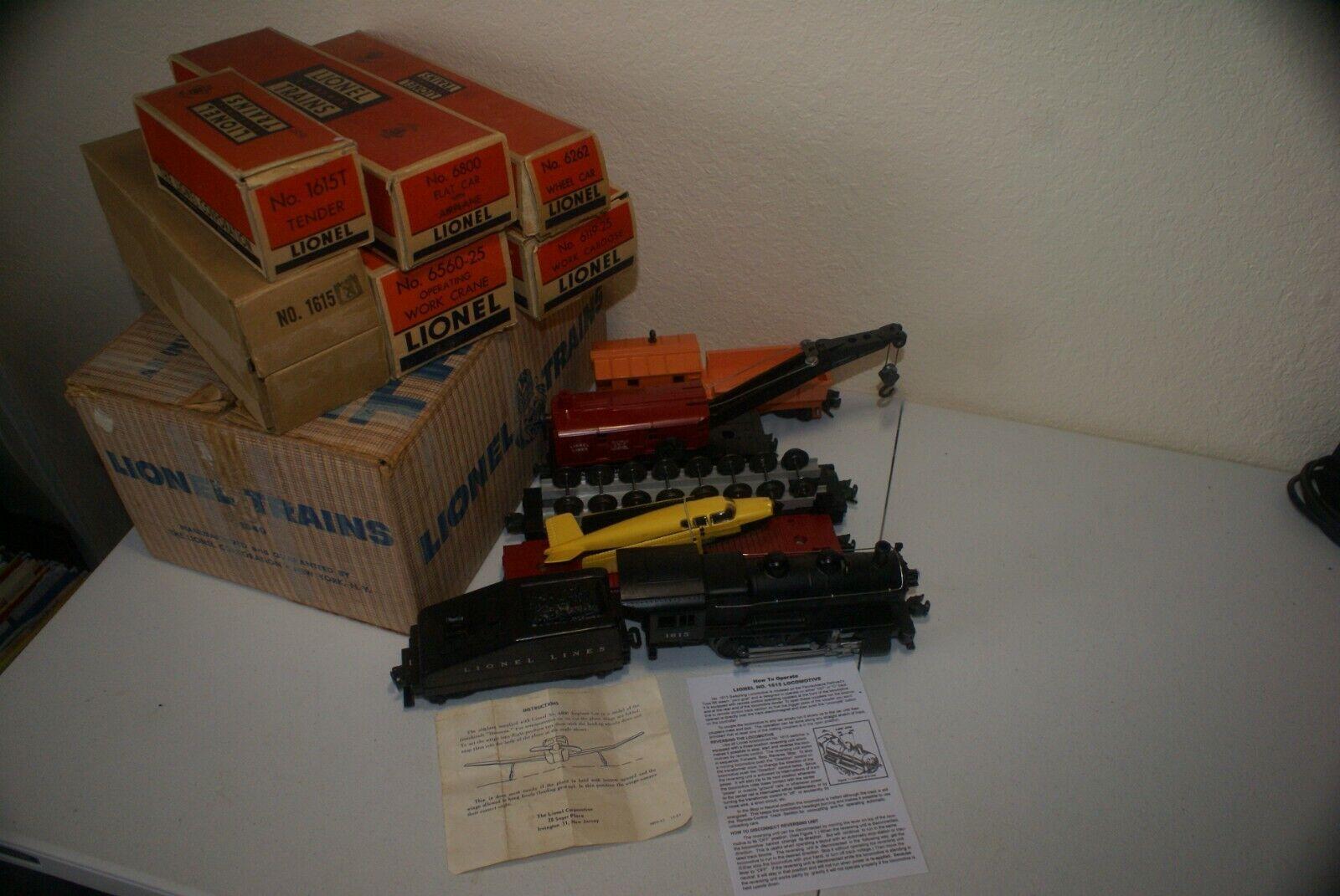 Lionel 1549S Conjunto de tren de trabajo de vapor   Envío Gratis
