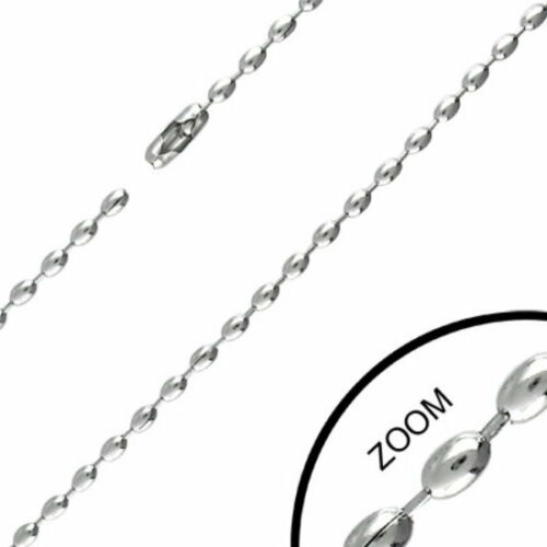 N312 Ball necklace Stainless Steel for Pendant Dog Tag Silver Men/'s Chain