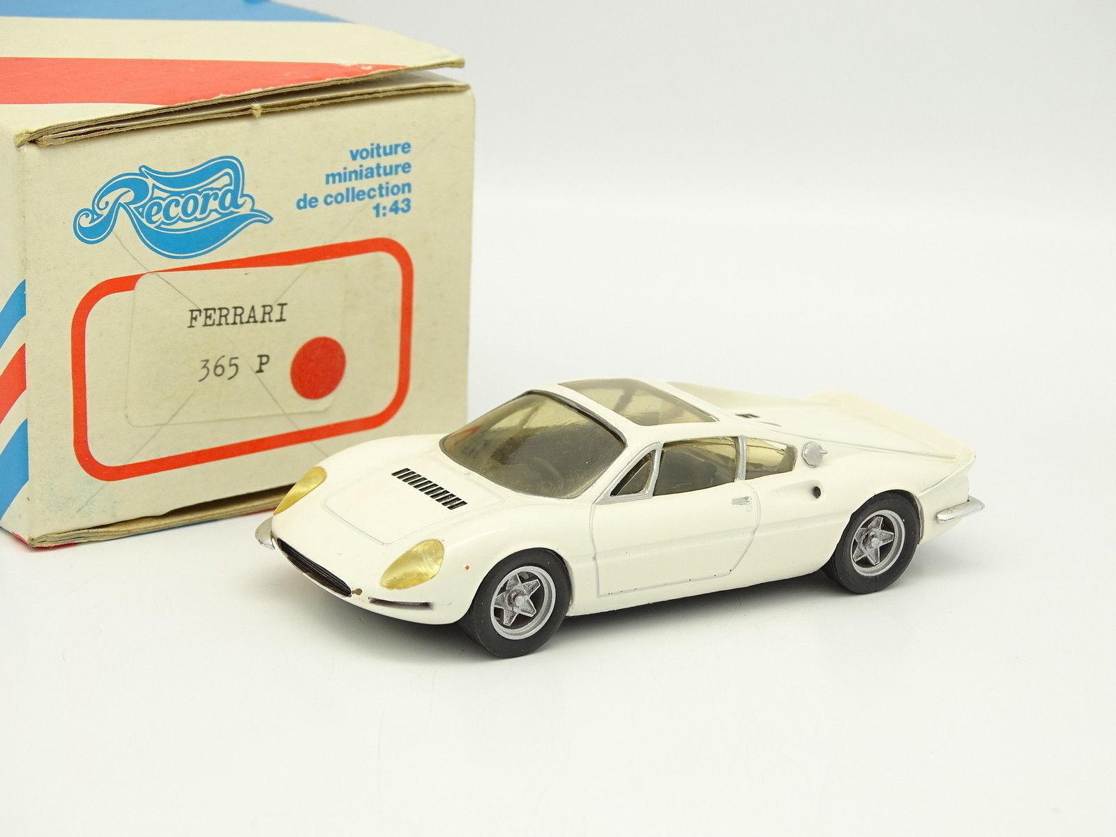 Record resin kit - 1 43 - ferrari 365p white