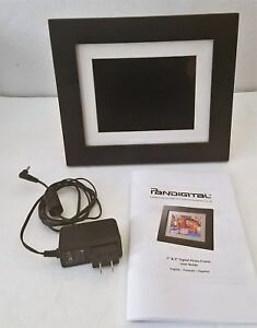 Pandigital 7 Lcd Digital Photo Frame Onoff Alarm Cf Sd 1024mb 43
