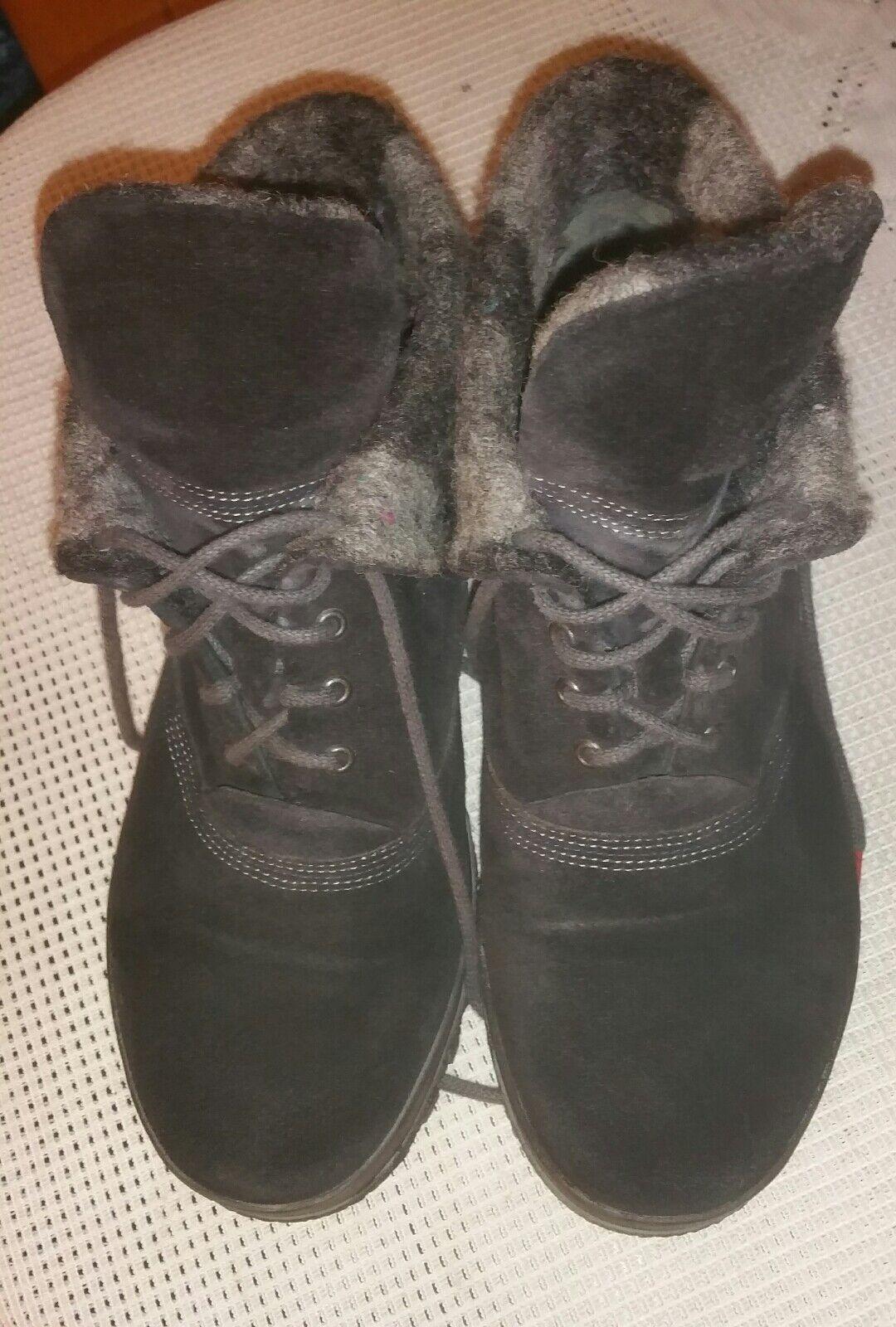 THINK Damen  Stiefel Stiefel Winterstiefel  Gefüttert Gr.37 schwarz