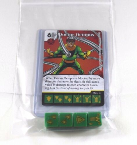 Marvel Dice Masters Avengers VS X-Men AVX DOC DOCTOR OCTOPUS RARE Set CUR 4 Dice