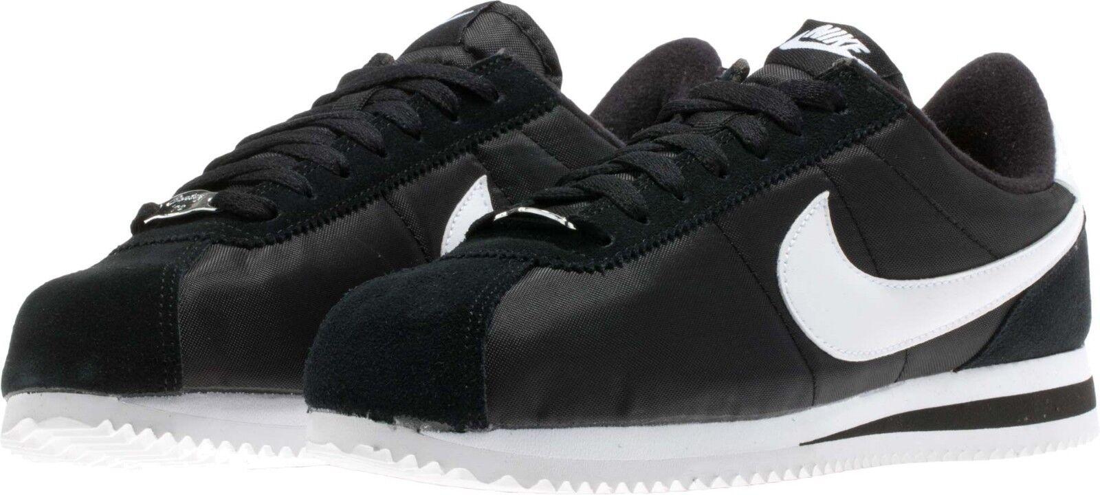 819720-011 nike cortez di nylon nero / bianco - scarpe casual da pennino