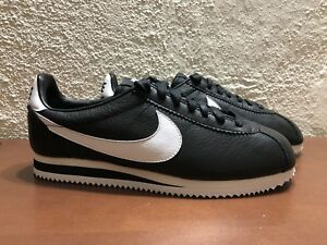 100% authentic d4dfb 3ed95 Details about Nike Cortez Premium ID NikeID Classic Leather Black White  AQ2708 994 Mens size 9