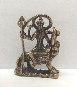 Dios-Shiva-Sur-Leon-Estatuilla-Figura-Amuleto-Hinduismo-Laton-Tailandia-s5