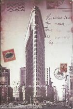 Plaque FLATIRON BUILDING New York en METAL tole cadre idée cadeau manhattan NEUF