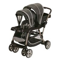 Graco Ready2Grow Click Connect LX Glacier Standard Double Seat Stroller