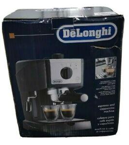 DeLonghi-EC155-2-Cups-Espresso-Machine-Black-MINT-Condition-Open-Box