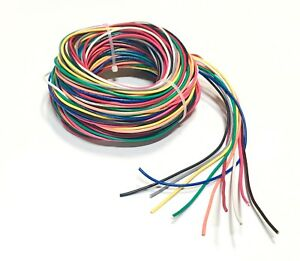 18 GAUGE WIRE 10 COLORS 25 FT EA PRIMARY AWG STRANDED COPPER POWER ...