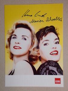 Sign Verantwortlich Klassik: Marion Schoeller & Hera Lind Orig – 10x15cm SammlungsauflÖsung