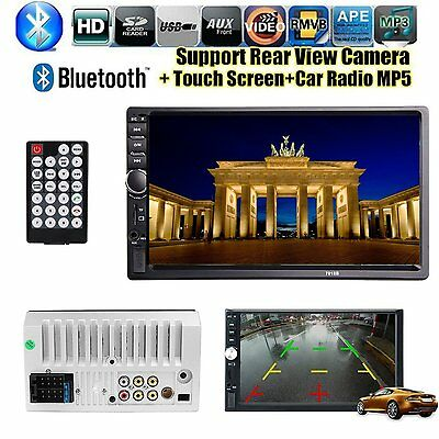 """Double 2 Din 7"""" Inch Car MP5 Player Touch Screen In Dash Stereo Radio HD BT FM"""