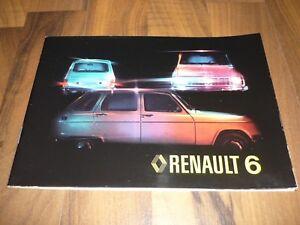 RENAULT-6-R6-original-HANDBUCH-Jahr-1977-Betriebsanleitung-Bedienungsanleitung