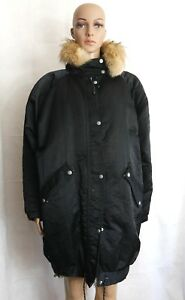8aac4d258039 Image is loading Nils-Womens-Black-Vintage-Winter-Coat-Insulated-Parka-