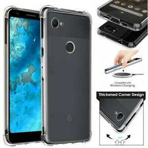 For-Google-Pixel-3a-XL-Slim-Soft-TPU-Clear-Silicone-Bumper-Shockproof-Case-Cover