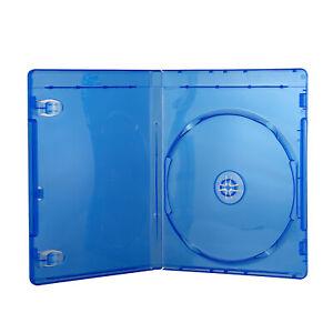 10mm-Blu-Ray-Logo-Case-Single-DVD-Disc-Storage-Sleeve-Cover-Plastic-Blue-Holder