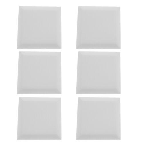 6 STÜCKE Schallabsorption Akustikschaum Schalldämmplatte Brandschutz Weiß