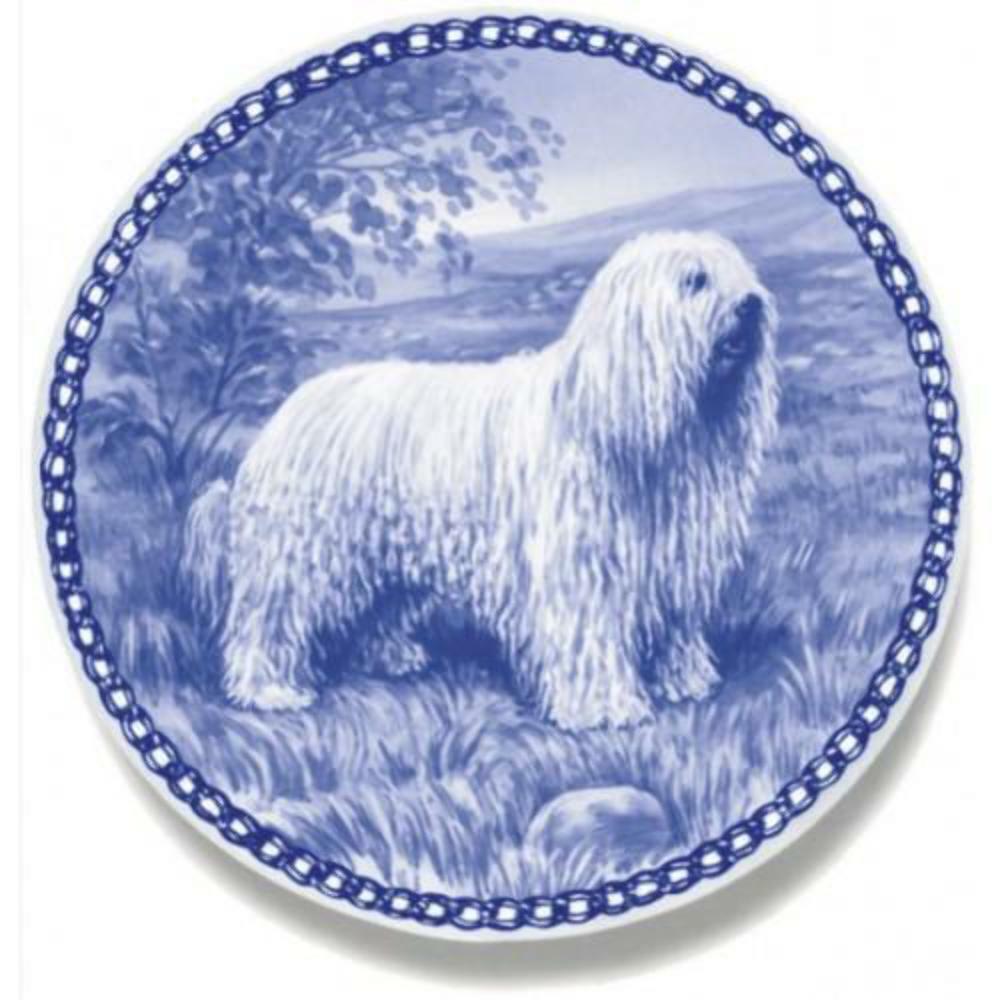 Komondor - Dog Plate made in Denmark from the finest European Porcelain
