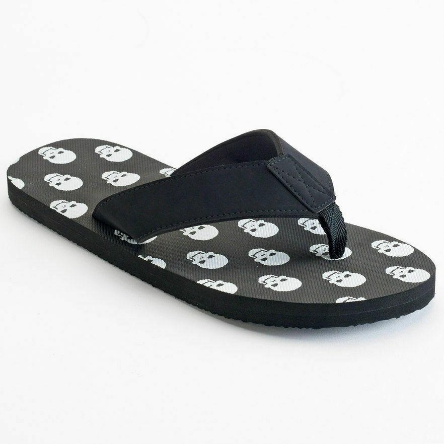 Skull Men's Sandals Print Ellum Supply & Co.Flip Flops Father's Day Gift