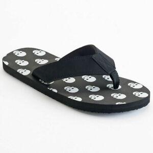 Ellum Supply /& Co Men/'s Sandals Print  Skull Shoes Flip Flops Father/'s Day Gift