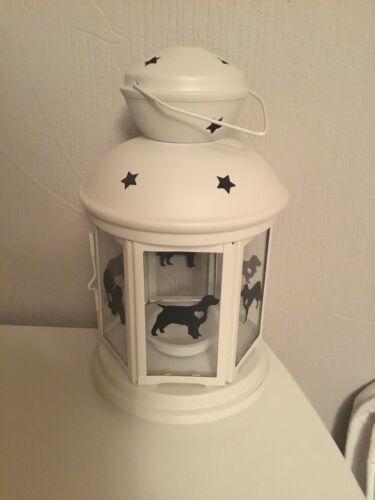 Working field Cocker Spaniel Lantern Gift Valentines Day Personalised white Xmas