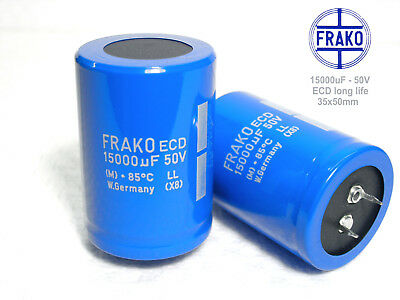 NEW 15000 uF by 50V ELECTROLYTIC CAPACITOR 50x35mm