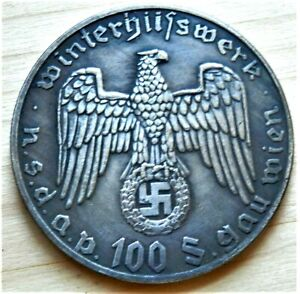 WW2-GERMAN-COMMEMORATIVE-COLLECTORS-COIN-100-SCHILLING