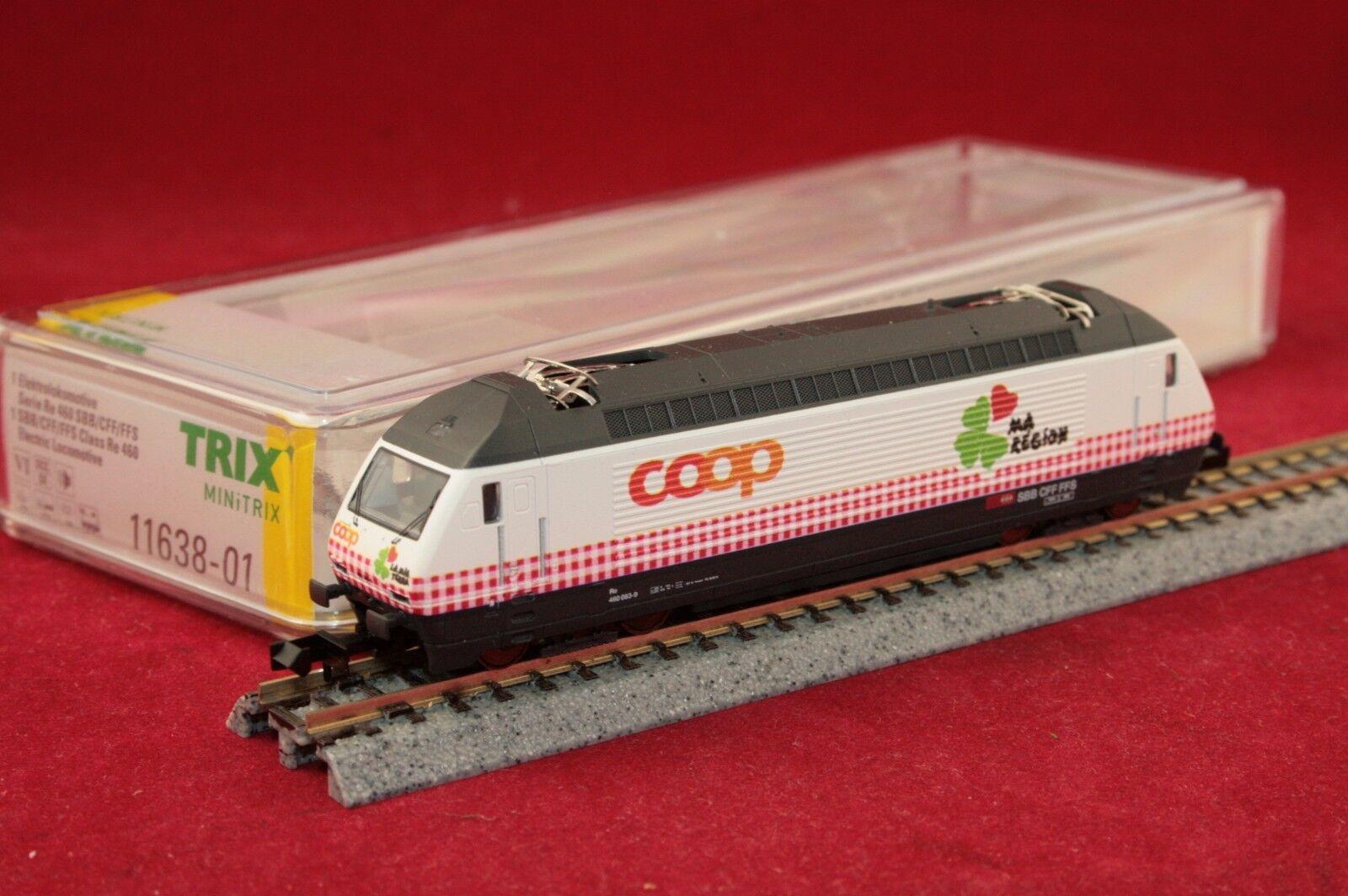 Minitrix 11638-1 11638-1 11638-1 Spur N SBB E-Lok Re 460 083-9 COOP Digital Sound NEU OVP 02a40a