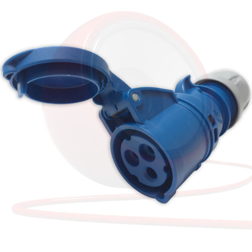 32amp 240v 2P+E Ceeform Cable Mount Blue Female Socket 3 Pole PCE 223-6