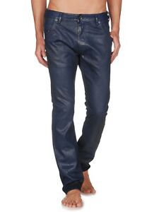 Men-039-s-DIESEL-EDUN-ED-KREEL-jeans-metalic-blue-color-size-28-32-BNWT