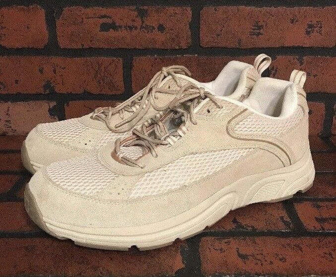 Drew Aaron Cream Combo Suede Leather Sneakers shoes Men's Size 11   4W