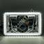 "thumbnail 3 - JTX, 1 Pair Chrome LED Headlights, 4x6"", White & Green Halo, Toyota Landcruiser"