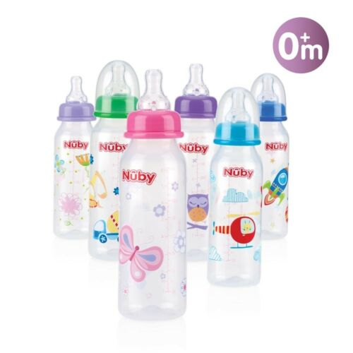 Variabler 1.2.3 Trinkfluss 3M+ Nuby Baby Flasche Standardflasche 240ml