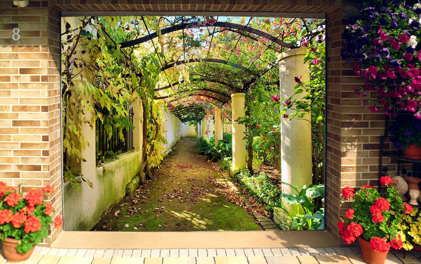 3D Garden Leaves9 Garage Door Murals Wall Print Decal Wall AJ WALLPAPER AU Carly