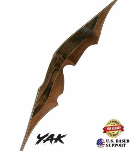 "Farmington Archery Yak 60/"" One Piece Traditional Wooden Hunting Bow"