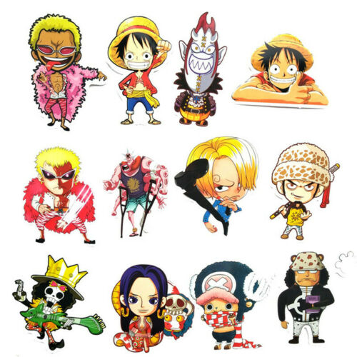 Details about  /61pcs One Piece Luffy Zoro Trafalgar Law Stickers Decals for Laptop Skateboard