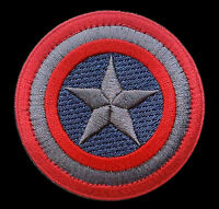 Captain America Subdued Marvel Comics Shield Logo Movie 2.5 Inch Hook Patch
