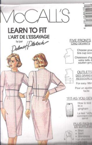 UNCUT Vintage McCalls Sewing Pattern Fitting Shell Dress 2718 Palmer Pletsch OOP