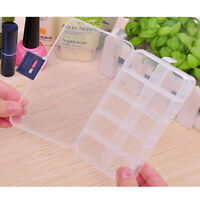 10 Compartments Jewelry Bead Storage Plastic Box Container Craft Organizer JS4
