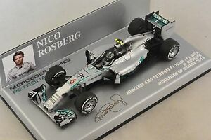 Minichamps 410140006 - Mercedes W05 Rosberg 1er GP Australie 2014 1/43