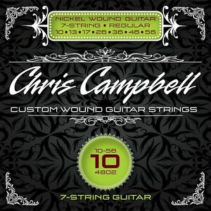 3-SETS-CHRIS-CAMPBELL-CUSTOM-ELECTRIC-GUITAR-STRINGS-4802-REG-7-STRING-GAUGE