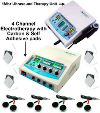 Prof Ultrasound Therapy 1mhz Unit With 4 Channel Physical Therapy Combo Machine