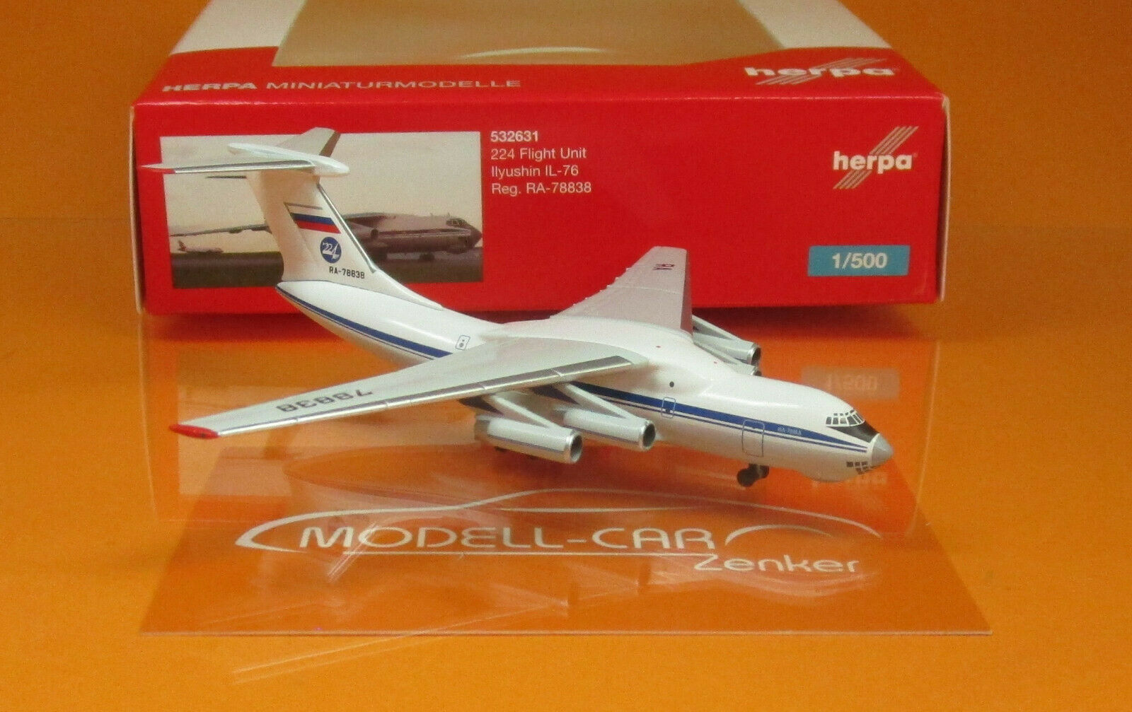 Herpa Wings 532631 224 Flight Unit State Airlines Airlines Airlines Ilyushin IL-76 Scale 1 500  | Langfristiger Ruf  b2cf47